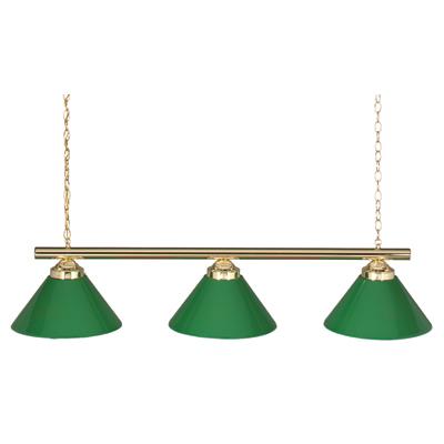48 Quot 3 Lamp Billiard Light W Green Shades 24903pb