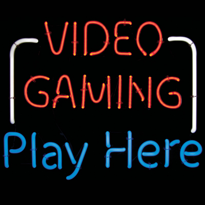 Neon Sign Quot Video Gaming Play Here Quot 49 0946 00