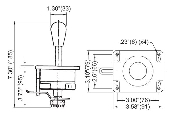 8-way joystick w   12 position rotary switch