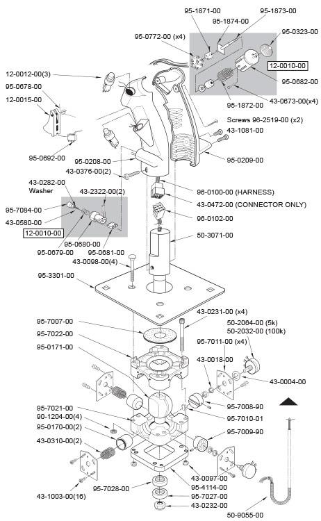 analog flight joystick with 5k potentiometers b 8 grip. Black Bedroom Furniture Sets. Home Design Ideas
