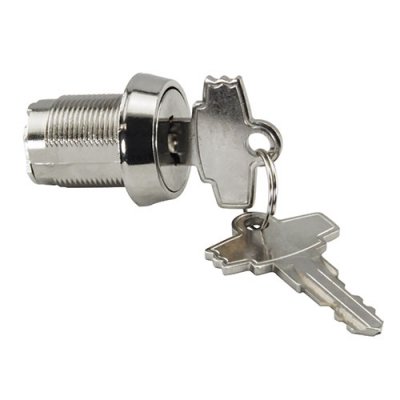 "7/8"" Double Bitted Keyed Alike Lock with 1-1/4"" Cam & 2 Keys - 078DS7529 - Item Photo"