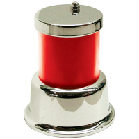 11-1781-2 - Classic 1-Tier Tower Light, Chrome Frame, Red Lens