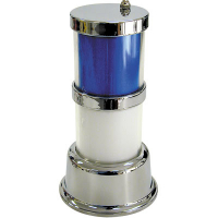 11-1782 - Classic Tower Light, 2-Tier, Chrome Frame, with Color Inserts