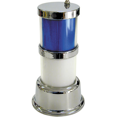 Classic Tower Light, 2-Tier, Chrome Frame, with Color Inserts - 11-1782 - Item Photo