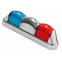 11-2082-62 - Light Train Low Profile Tower Light - Blue/Chrome/Red