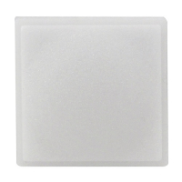 10S001-01-AAOL - SS214 large square pushbutton legend plate