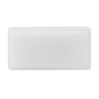 10S003-01-AAOL - RS214 rectangle pushbutton legend plate opal
