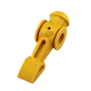TORNADO PLAYER, YELLOW,COUNTER WEIGHTED *ROLL PIN SOLD SEP* - 20515233