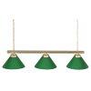 "48"" 3-Lamp Billiard Light With Green Shades - 24903PB"