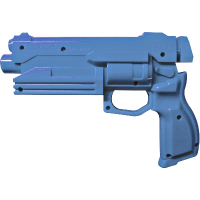 2535-5407 - SEGA SET OF GUN HALVES RIGHT AND LEFT BLUE