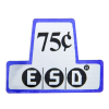 ESD Coin Chutes $.75 decal - 26-1057-00