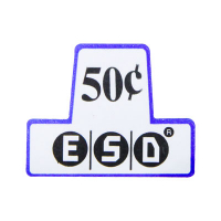 26-1058-00 - Label Insert $ .50 for ESD Coin Chutes