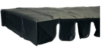26-0162-00 - Foosball Soccer Table Cover, Black
