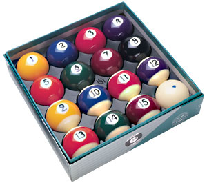 "2-1/4"" Belgian Premium Ball Set with 2-1/4"" Cue Ball - 26-1106-10 - Item Photo"