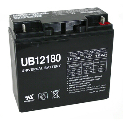 12V 18AH Battery for Pool Tables - 26-1218-00 - Item Photo