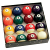 "Standard 2-1/4"" Pool Ball Set with 2-1/4"" Magnetic Cue Ball - 26-2002-02"