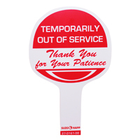 """Temporarily Out Of Service"" Sign - 27-0161-00 - Item Photo"