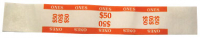 27-1021-00 - $50 Imprinted Orange Currency Bands - 1 Qty: 1,000 Wrappers