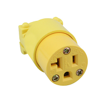 27-1035-00 - Eagle Thermoplastic Female Connector, Straight, 20AMP 125V 5-20 NEMA