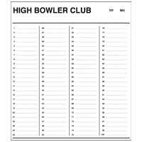 27-1112-00 - High Bowler Numbered Cards, 200 Names
