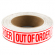 """Out of Order"" Label, Red Lettering on White Background - 27-1218-00"