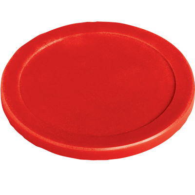 "3-1/4"" Red Glass Filled Puck for Air Hockey - 205-1529-0 - Item Photo"