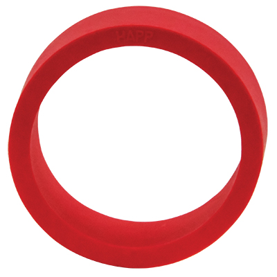 "1-1/2"" x 1/2"" Red Flipper Rubber, 45 Durometer - 25-1000-00 - Item Photo"