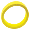 "1-1/2"" x 1/2"" Yellow Flipper Rubber, 45 Durometer - 25-1000-05"