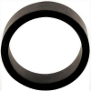 "1-1/2"" x 1/2"" Black Flipper Rubber, 60 Durometer - 25-1000-06HD"