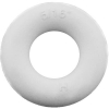 "5/16"" ID White Bumper Post Ring, 7/32"" Diameter, 45 Durometer - 25-1280-01"