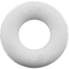 "7/16"" ID White Bumper Post Ring, 13/16"" Diameter, 45 Durometer - 25-1030-01"