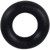 "7/16"" ID Black Bumper Post Ring, 3/16"" Diameter, 50 Durometer - 25-1030-06HD"