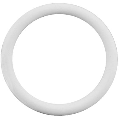 "1-1/4"" ID White Rubber Ring, 45 Durometer - 25-1060-01 - Item Photo"