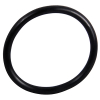 "2-1/2"" ID Black Rubber Ring, 50 Durometer - 25-1090-06HD"
