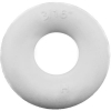 "3/16"" ID White Bumper Post Ring, 7/32"" Diameter, 45 Durometer - 25-1290-01"