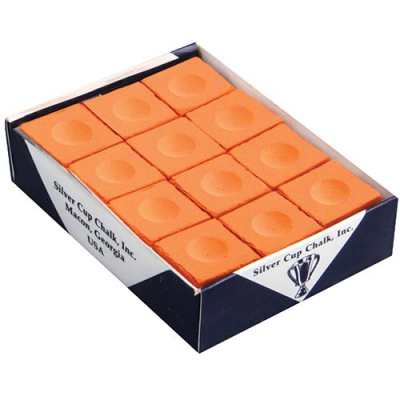 Silver Cup Orange Cue Chalk (12 pack) - 26-0194-00 - Item Photo