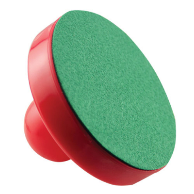 "Red Mallet, 3-1/2"" Diameter with Green Felt on Bottom - 26-0611-00 - Item Photo"