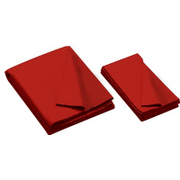 26-0493-357 - Championship Invitational, Red, 20 oz., Pre- Cut Cloth, 7 Ft. Table, Teflon, Un-backed