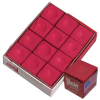 Master Chalk Red Cue Chalk, Box of 12 - 26-1023-12R