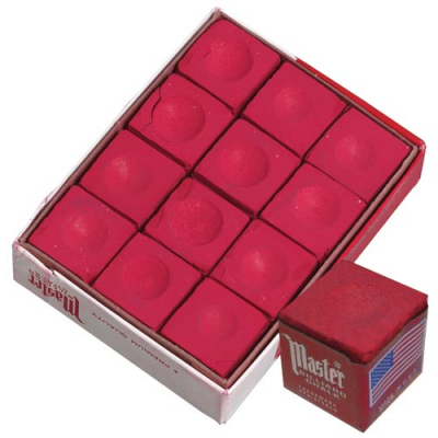 Master Red Cue Chalk (12 pack) - 26-1023-12R - Item Photo