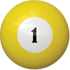 "2-1/4"" yellow #1 ball - 26-1027-01E"