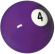 "Belgian 2-1/4"" #4 purple Ball - 26-1027-04B"