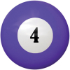 "2-1/4"" purple #4 Ball - 26-1027-04E"