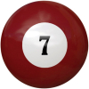 "2-1/4"" dark red #7 Ball - 26-1027-07E"
