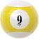 "2-1/4"" yellow/white #9 Ball - 26-1027-09E"