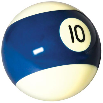 "Belgian aramith 2-1/4"" blue/white #10 Ball - 26-1027-10B - Item Photo"