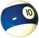"Belgian aramith 2-1/4"" blue/white #10 Ball - 26-1027-10B"