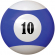 "2-1/4"" blue/white #10 Ball - 26-1027-10E"