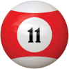 "2-1/4"" red/white #11 Ball - 26-1027-11E"