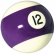 "Belgian 2-1/4"" purple/white #12 Ball - 26-1027-12B"